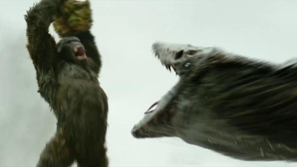 映画『キングコング:髑髏島の巨神』の怪獣バトルシーンが公開