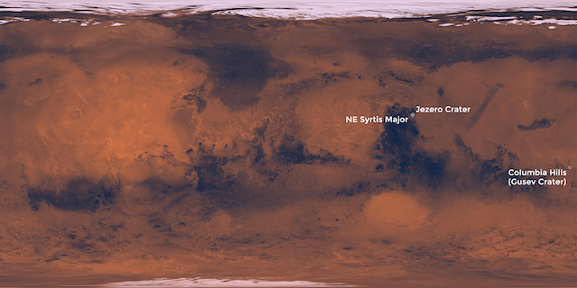NASAが2020年に送る火星探査ローバーの着陸予定地を発表2