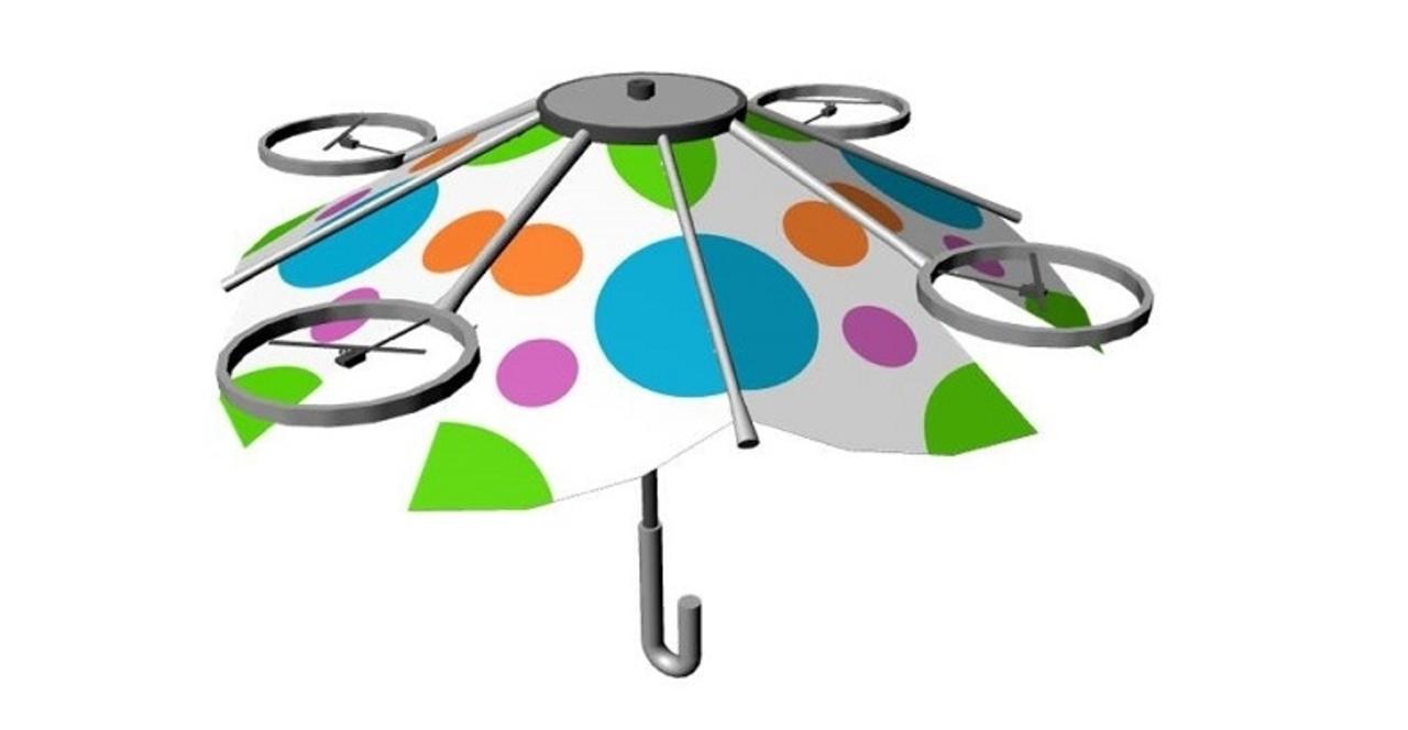 ついに雨具界にイノベーションが。傘を持ってくれるドローンが開発中