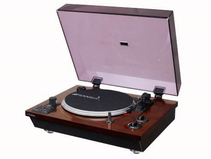 Bluetoothスピーカー内蔵でいろいろ使える、SANSUIブランドの新型レコードプレーヤー「SLP-5000BT」