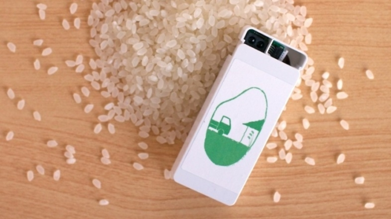 要するに「お米Dashボタン」。お米が少なくなると通知が来るIoTが登場
