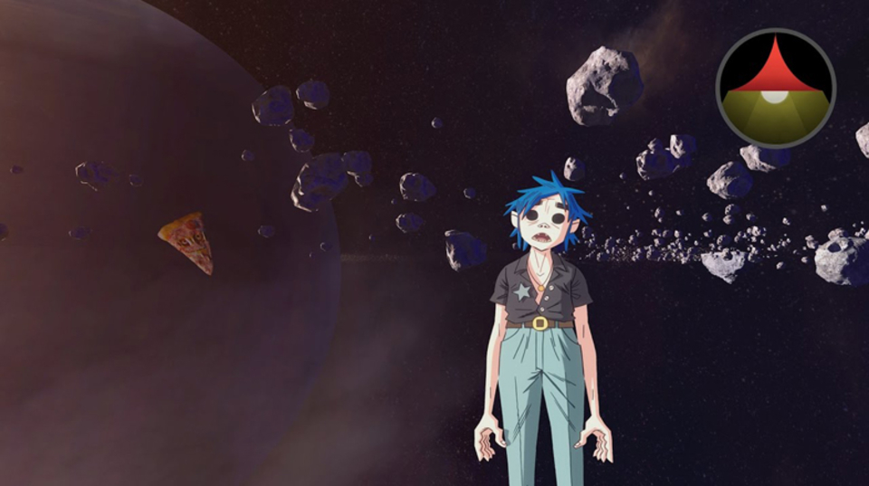 宇宙浮遊的ピザリリック! Gorillazが新曲の360度ミュージックビデオを公開