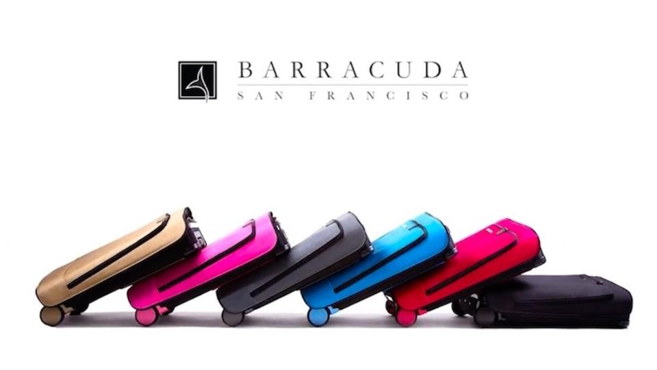「あったら便利!」な機能を多数搭載した、折りたたみスーツケース「Barracuda」