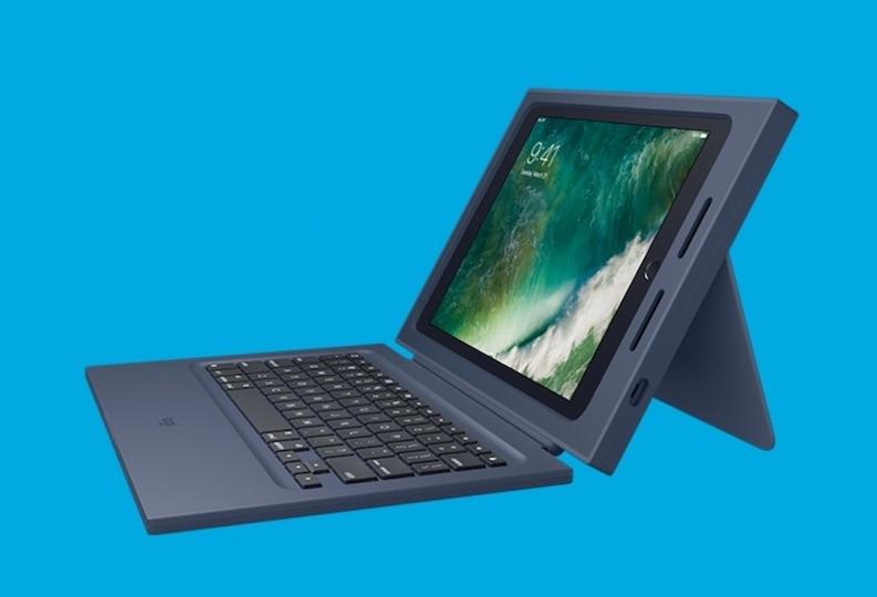 新型iPadがPCみたいに。Logitechの学校向けキーボードケース