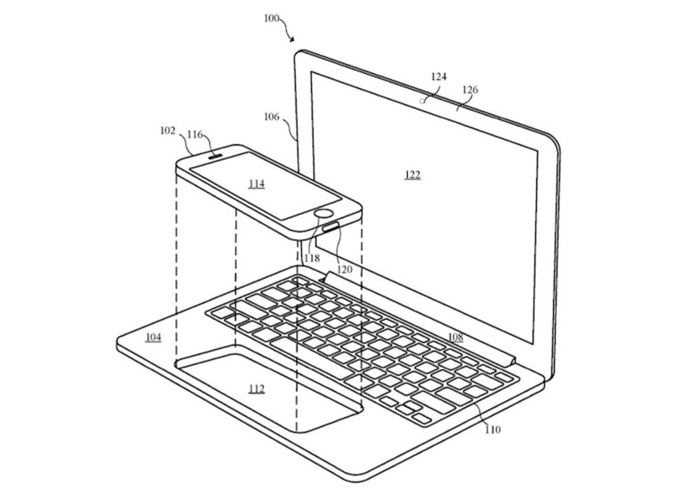iPhoneとMacBookが合体? トラックパッドにiPhoneをはめて使う謎の特許が登場