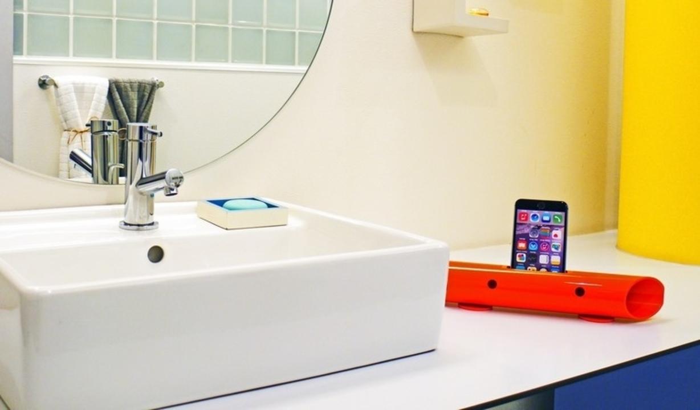iPhoneにも使える世界初のマグネシウムチューブ製無電源スピーカー「バイオン-Mg60」