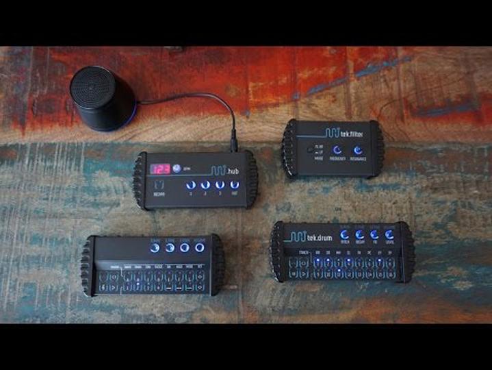 シンセ+ドラムマシン+フィルター+ミキサーで構成されるポータブル・シンセセット「minijam studio」