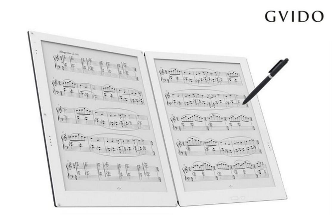 書き込みもできちゃうデジタルな楽譜。世界初の「2画面電子ペーパー楽譜専用タブレット」が登場
