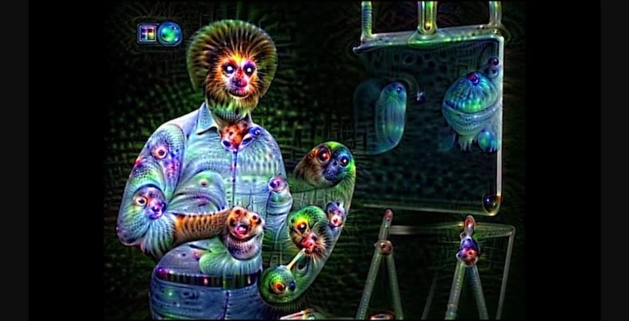 の、脳が溶ける…Googleの人工知能が生成する映像はやはり悪夢でしかない