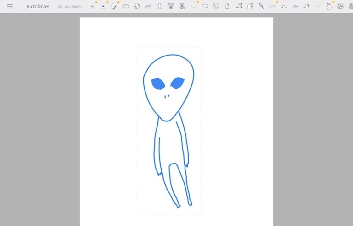 助けて!AutoDrawで宇宙人が描けない!