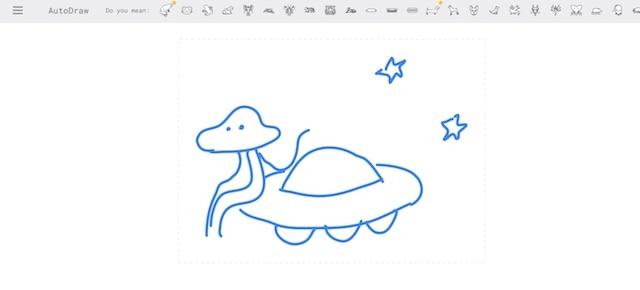 助けて!AutoDrawで宇宙人が描けない!13