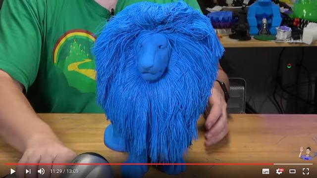 髪まで3Dプリントのふさふさライオン。キーアイテムは「ドライヤー」です