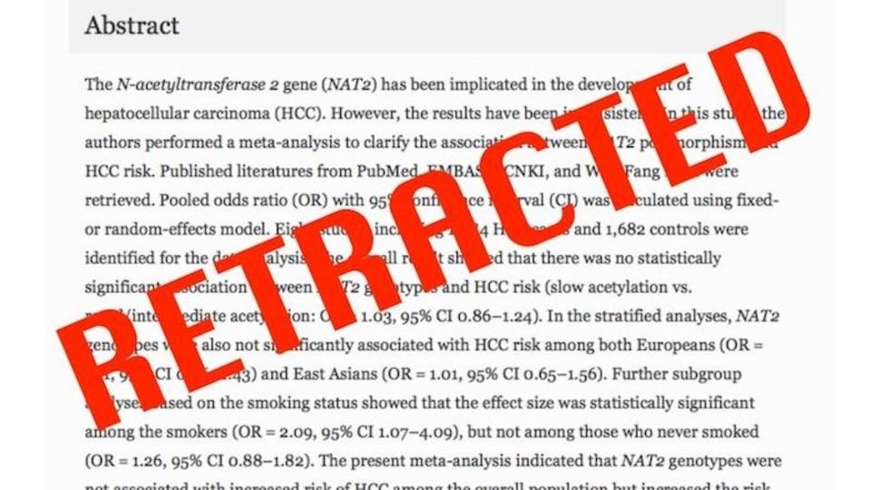 ガン関係の学術誌、論文107本を撤回。ニセの査読にだまされる