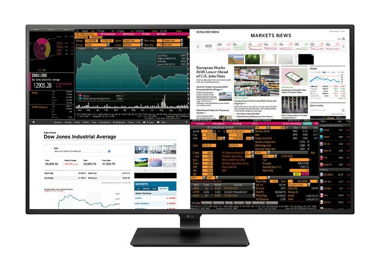 LG製の42.5インチ4Kモニターが国内発売。21.5インチのフルHD画像を4面表示可能!