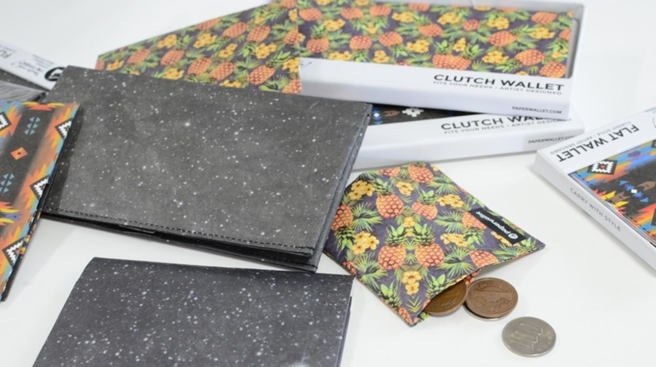 スリムでスマートに。紙のように薄くて軽いお財布「paperwallet」は何がいいのか?