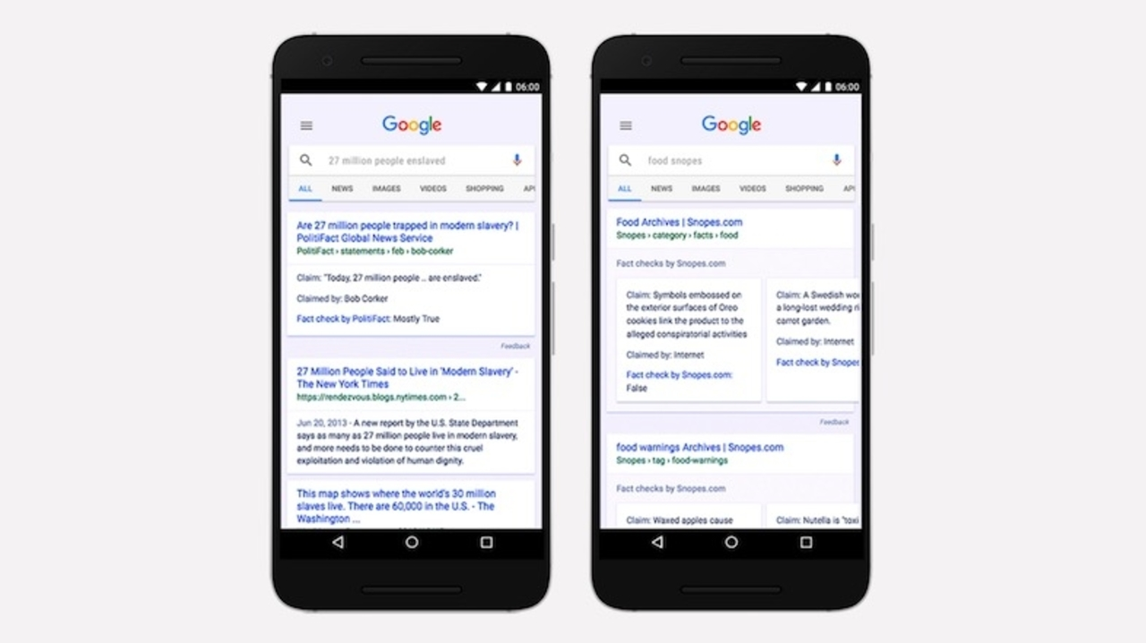 Googleがフェイクニュースの拡散を防ぐため、ファクトチェック機能を検索にも導入