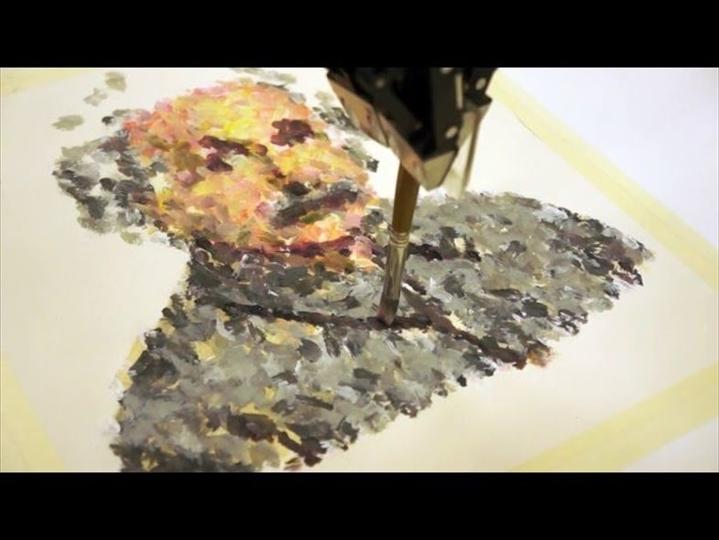 絵筆で絵を描くロボットが競う絵画コンテスト「Robot Art competition」