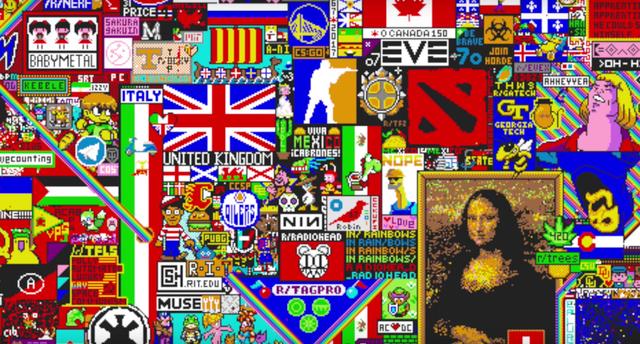 100万ピクセルが次々と塗り替えられていく! インターネットで行なわれた、72時間のピクセルアート大戦争