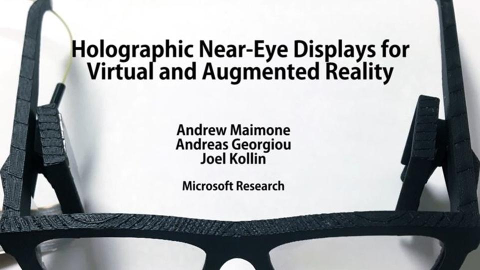 MicrosoftがARメガネを発表。高コントラスト、高解像度ホログラムで乱視も矯正