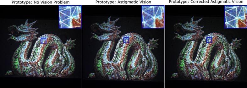 高コントラスト、高解像度ホログラムで乱視も矯正するARメガネ2