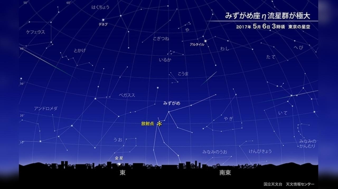 GWは夜更かしOK? 5月6日は「水瓶座η流星群」の観測チャンスです