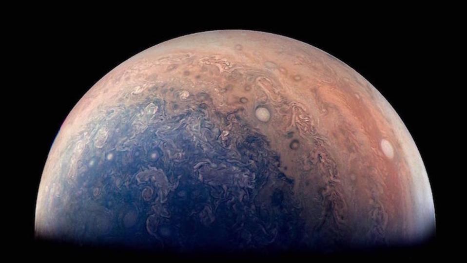 ふと手をとめて、木星の美しさに溺れる
