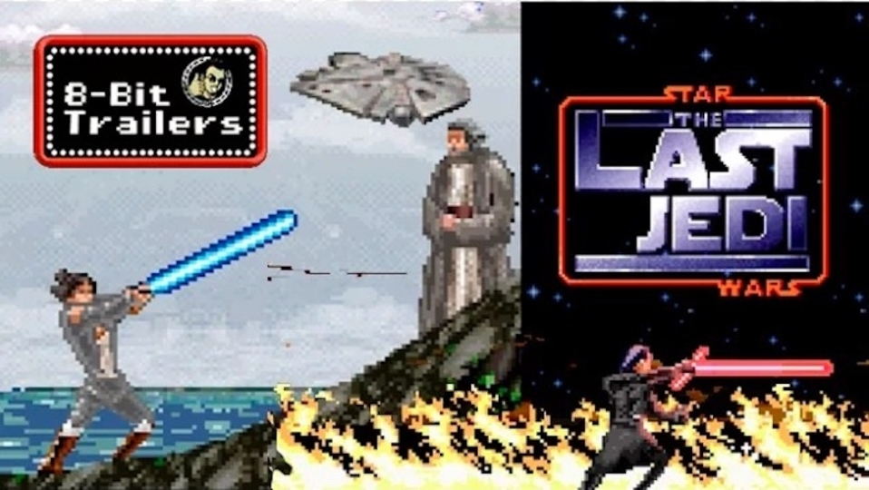 映画『スター・ウォーズ/最後のジェダイ』予告編をレトロゲーム化! ライアン・ジョンソン監督も絶賛の出来