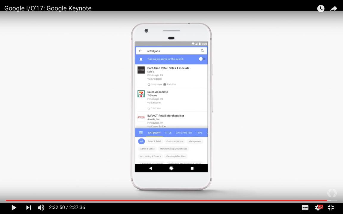 Googleがジョブサーチ機能「Google for Jobs」をスタート(アメリカのみ)