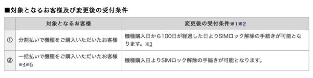 ドコモ、一括払いでの即日SIMロック解除へ対応2