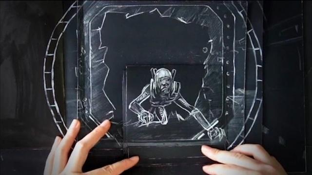 映画『エイリアン:コヴェナント』の超ハイクオリティーなパラパラ漫画