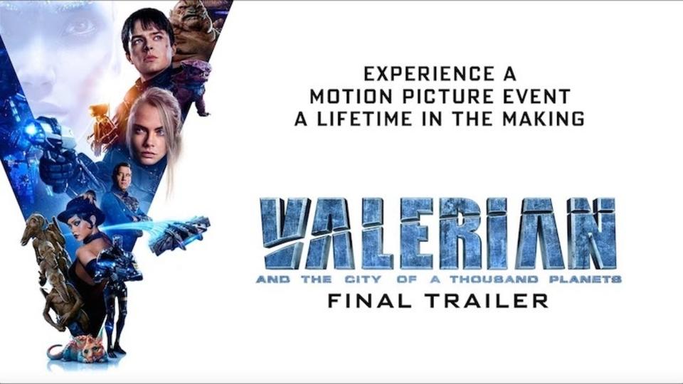 映画『ヴァレリアン』最終予告編。色鮮やかに広がる宇宙都市の行く末は?
