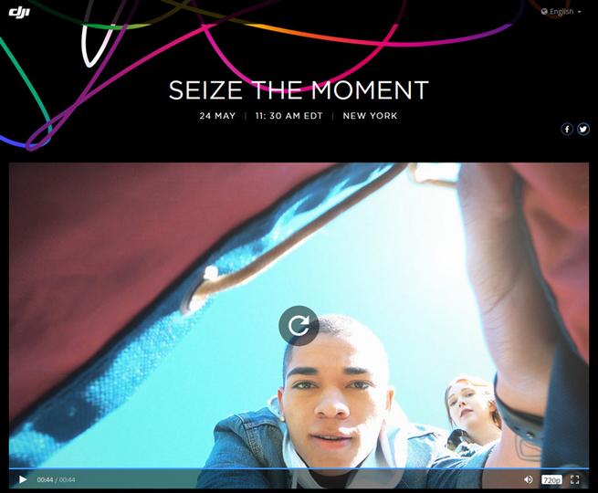 DJIの新ドローン「Spark」、日本時間5月25日(木)0:30に発表か! #SeizeTheMoment