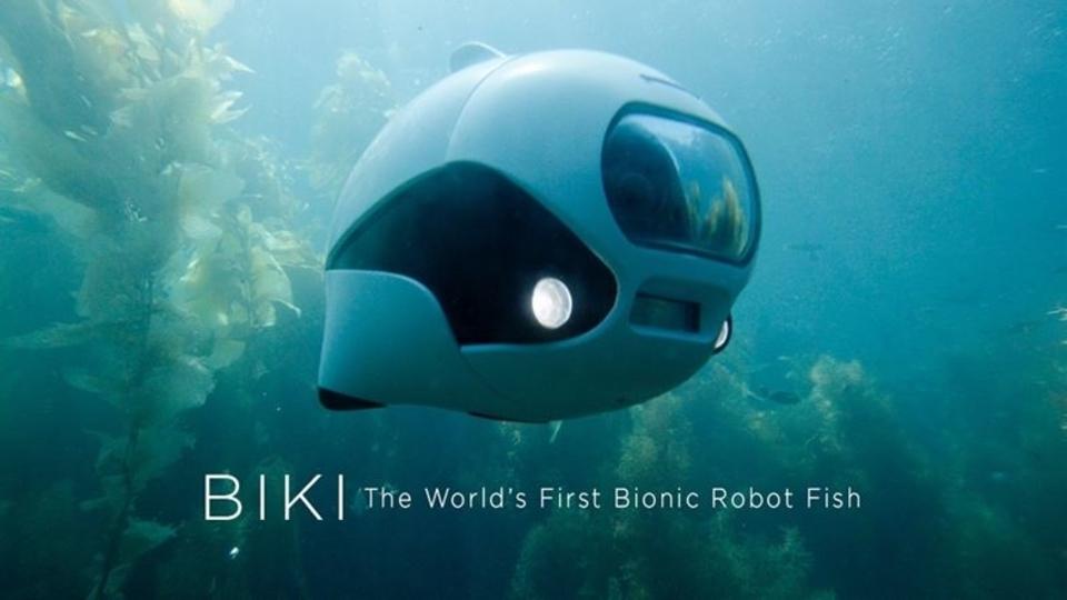 魚型水中ドローン「BIKI」家族でも使える小さな電気妖精
