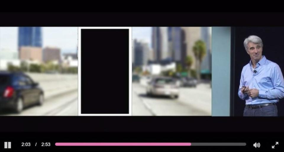 真っ黒です。運転に嫌でも集中できるiOS 11の運転中邪魔しないでモード #WWDC17