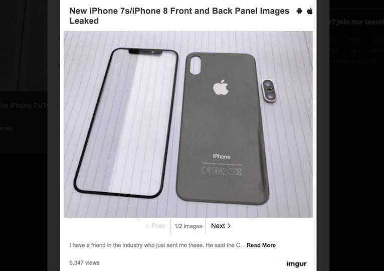 「iPhone 8」らしき部品が初流出! 極細ベゼルに、画面内蔵Touch IDもくる!?