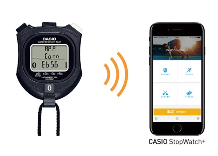 計測データをiPhoneに転送できるお利口さんなストップウォッチ