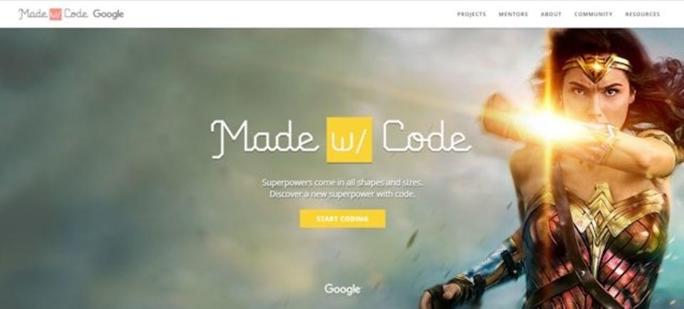 一足先に映画『ワンダーウーマン』を楽しめるGoogleのプログラミング教育サイト「Made with Code」
