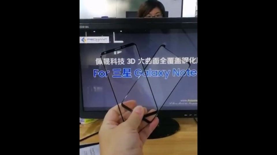 Galaxy Note 8始動か。極細ベゼルのフロントパネル部品がリーク!