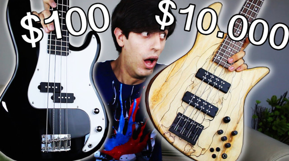100ドルと700ドルと1万ドルのベース、音の違いわかりますか?