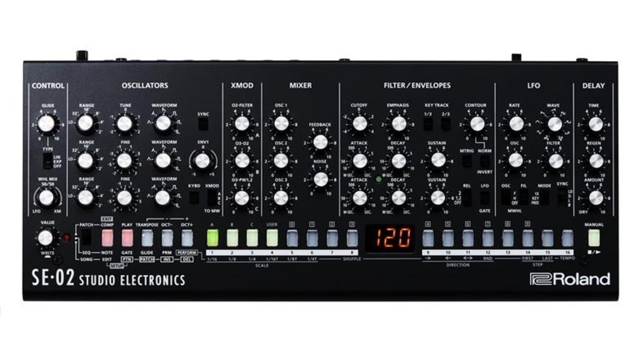 ローランドがアナログシンセ『SE-02』を発表。Studio Electronicsとの共同開発!