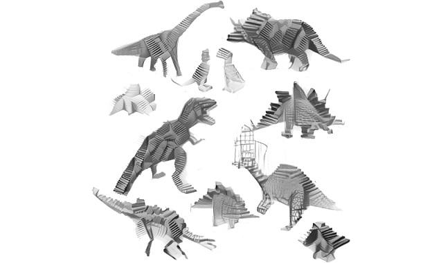 ミスマッチ感に惹かれる。ディープラーニングで生成した恐竜×○○なイラストたち5