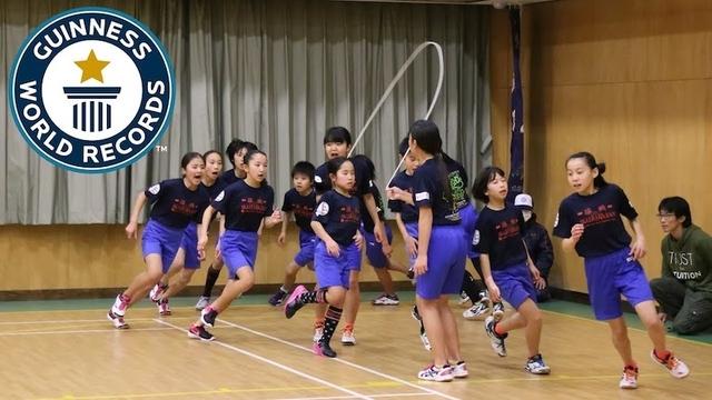 仕事疲れが溜まっているアナタに贈る、日本の小学生のギネス認定縄跳び