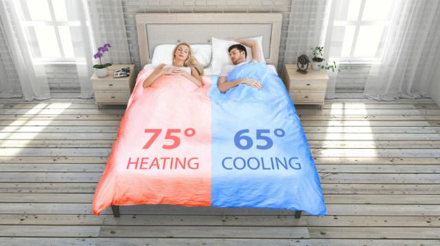 自動ベッドメイキングとデュアル温度調整機能つき。至高の快眠スマート掛け布団、登場