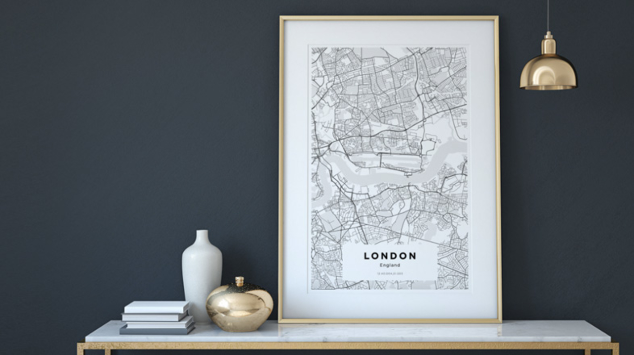 自分の街の地図をかっこいいポスターに印刷してくれるサービス「YOUR OWN MAPS」