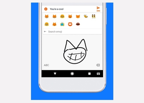 Googleのキーボードアプリ、手描きで絵文字が探せるように
