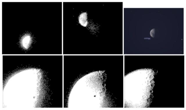 ゲームボーイ「ポケットカメラ」で撮影した、月と木星2