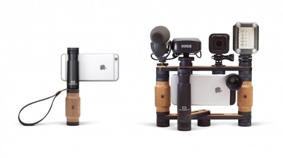 スマートフォン用リグ「Shoulderpod」はモジュラー型がウリです