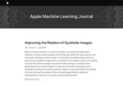 Appleがマシーンラーニングに関する公式ブログを開設。第1弾は偽の目をリアルに見せて学習につかうお話