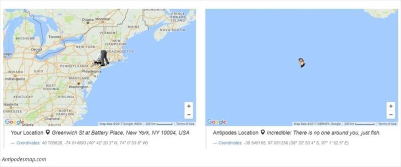 地球の裏側はブラジルだと思ってません? 対蹠地MAPでチェック