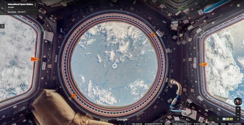 Google ストリートビュー、宇宙へ! 国際宇宙ステーションの内部を360度体験